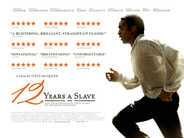 12 Years a Slave UK quad, movie, film, picturehouse