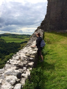 Sam's wife at Carreg Cennen as mentioned in the interview. Almost the exact same show is used in PRIDE, keep an eye out!