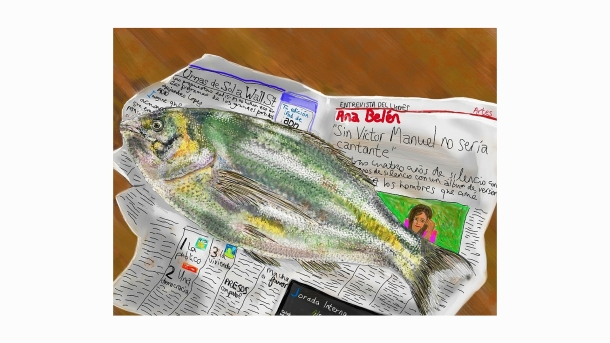 Barcelona Boxing Day Dorada Char Faber, Barcelona and Lewes, East Sussex Created on Brushes