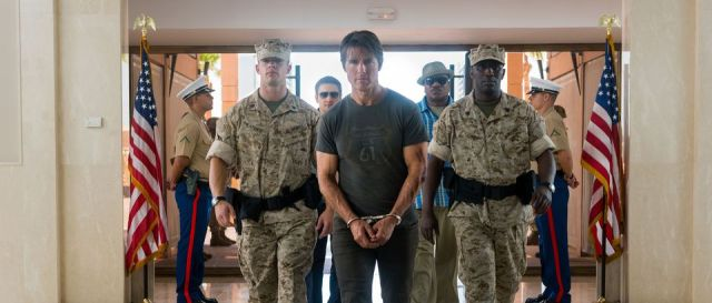 Left to right: Jeremy Renner plays William Brandt, Tom Cruise plays Ethan Hunt and Ving Rhames plays Luther Stickell in Mission: Impossible Rogue Nation from Paramount Pictures