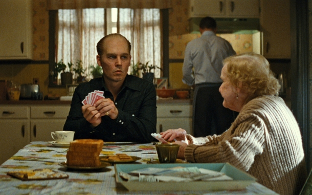 "In this image released by Warner Bros. Entertainment, Johnny Depp portrays Whitey Bulger in a scene from ""Black Mass."" (Warner Bros. Entertainment via AP)"