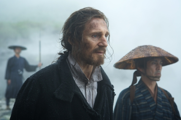Center: Liam Neeson plays Father Ferreira in the film SILENCE SILENCE by Paramount Pictures, SharpSword Films, and AI Films