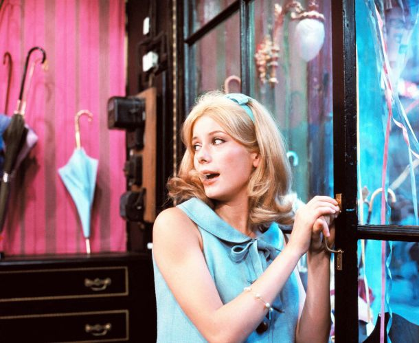Catherine Deneuve in Jacques Demy's THE UMBRELLAS OF CHERBOURG (1964). Courtesy Janus Films/Ciné-Tamaris. Playing Oct 18-24